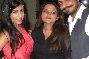 With Shibani Kashap and Daksh Oberoi