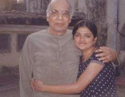 With Ustad Vilayat Khansaheb